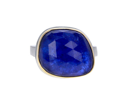 Asymmetrical Tanzanite Ring