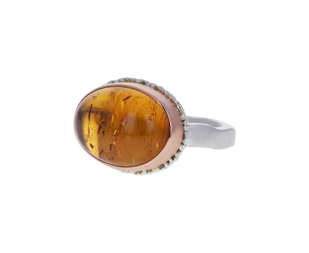 Oval Imperial Topaz Ring