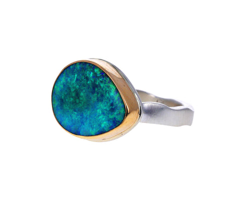 Smooth Australian Opal Ring