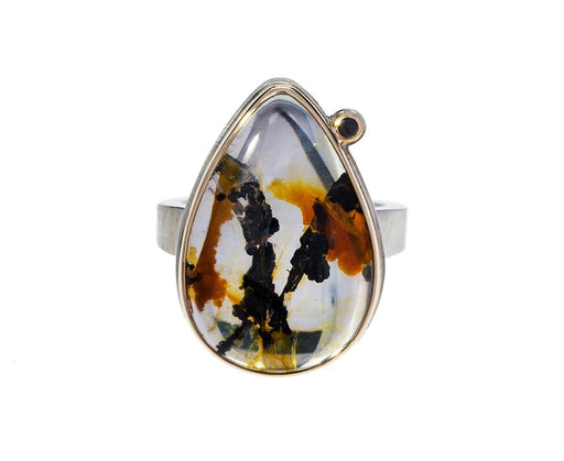 Brazilian Dendritic Quartz Black Diamond Ring - TWISTonline