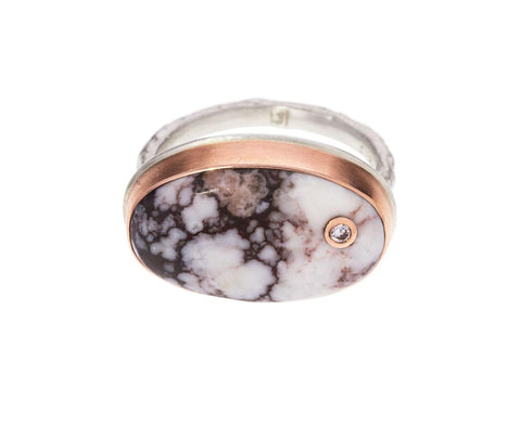 Wild Horse Jasper and Diamond Ring - TWISTonline