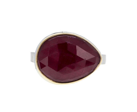 Teardrop Indian Ruby Ring