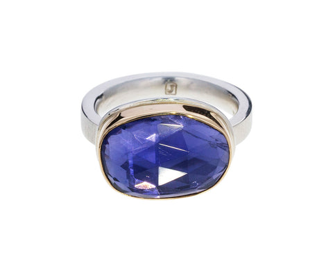 Rose Cut Iolite Ring