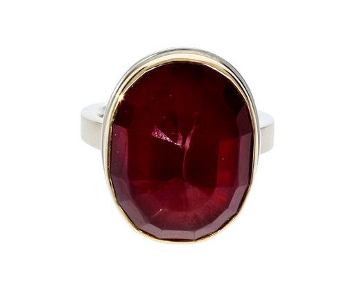Vertical Oval African Ruby Ring - TWISTonline