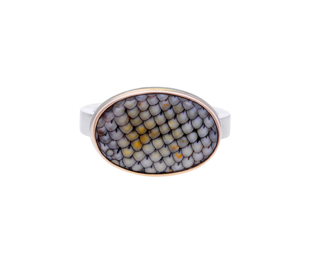 Oval Snakeskin Agate Ring