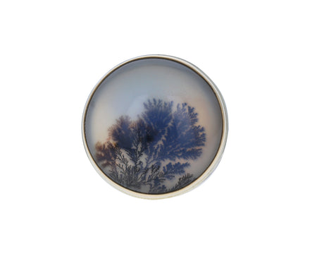 Round Dendritic Agate Ring