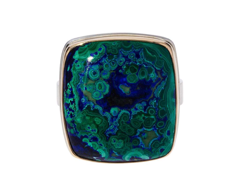 Chrysocolla, Azurite and Malachite Ring