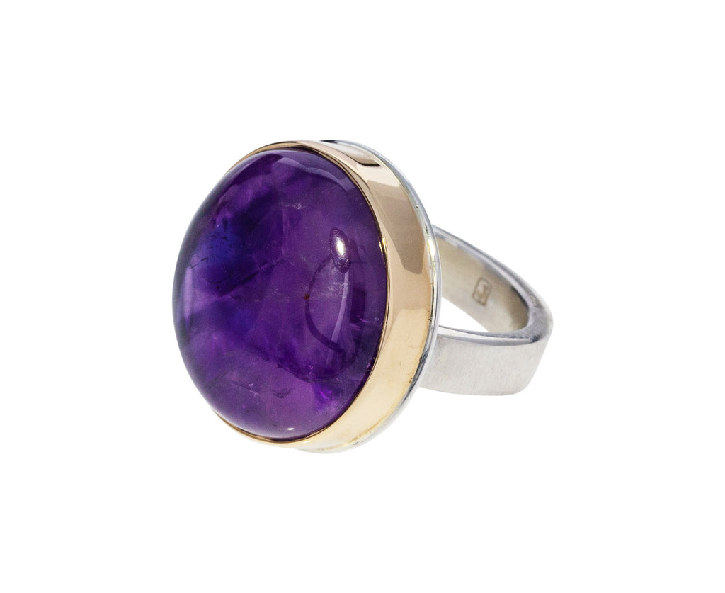 Smooth Round Amethyst Ring - TWISTonline