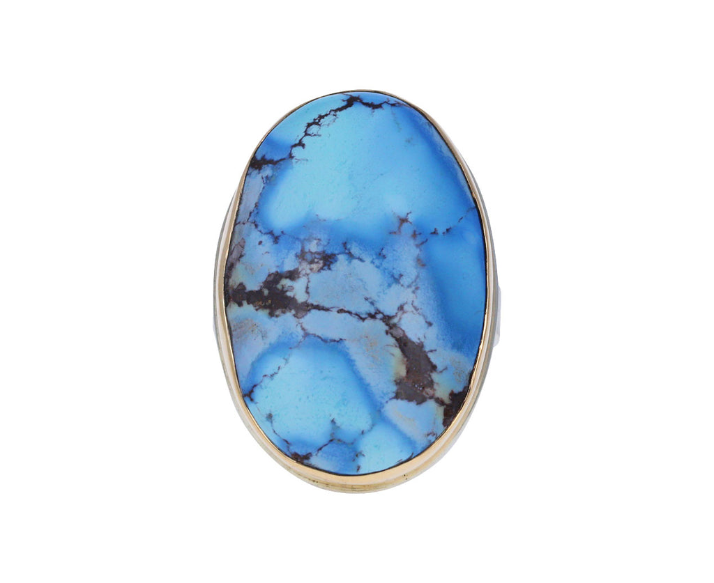 Large Oval Kazakhstani Turquoise RIng