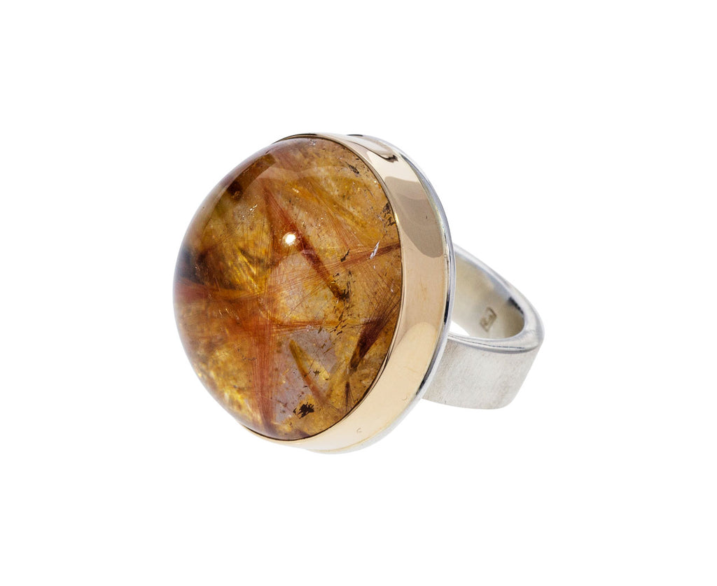 Smooth Red Rutilated Quartz Ring - TWISTonline
