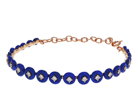 Lapis and Diamond Surrounding Bracelet - TWISTonline