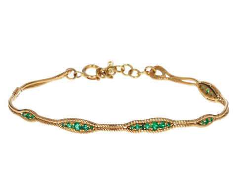 Fluid Emeralds Bracelet