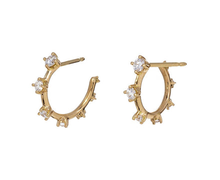 Diamond Sequence Hoop Earrings - TWISTonline