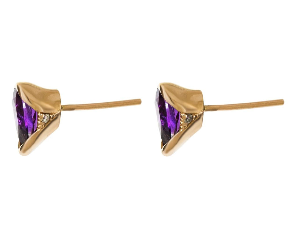 Large Bloom Amethyst Earrings - TWISTonline