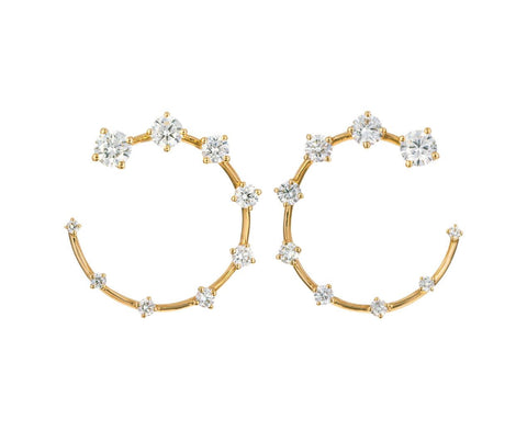 Small Diamond Circle Earrings - TWISTonline