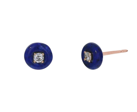 Lapis and Diamond Orbit Studs