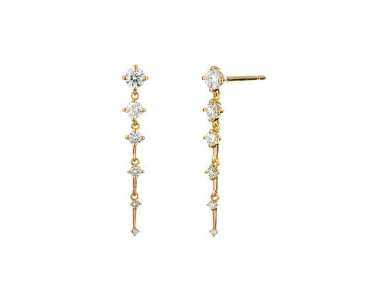 Short Sequence Diamond Earrings - TWISTonline