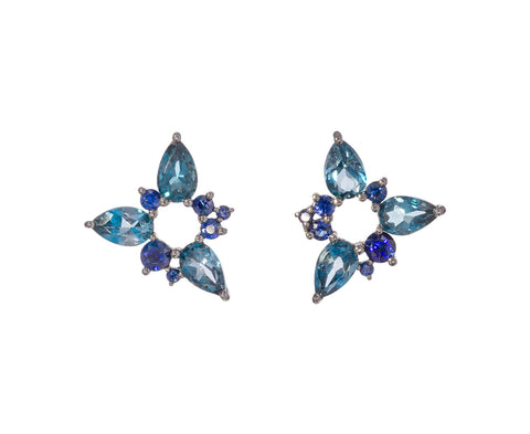 Sapphire and Topaz Electric Spark Studs