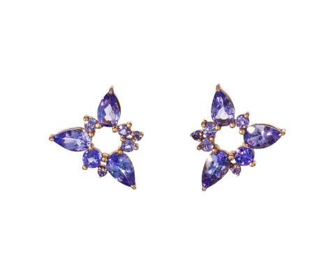 Tanzanite Electric Spark Studs