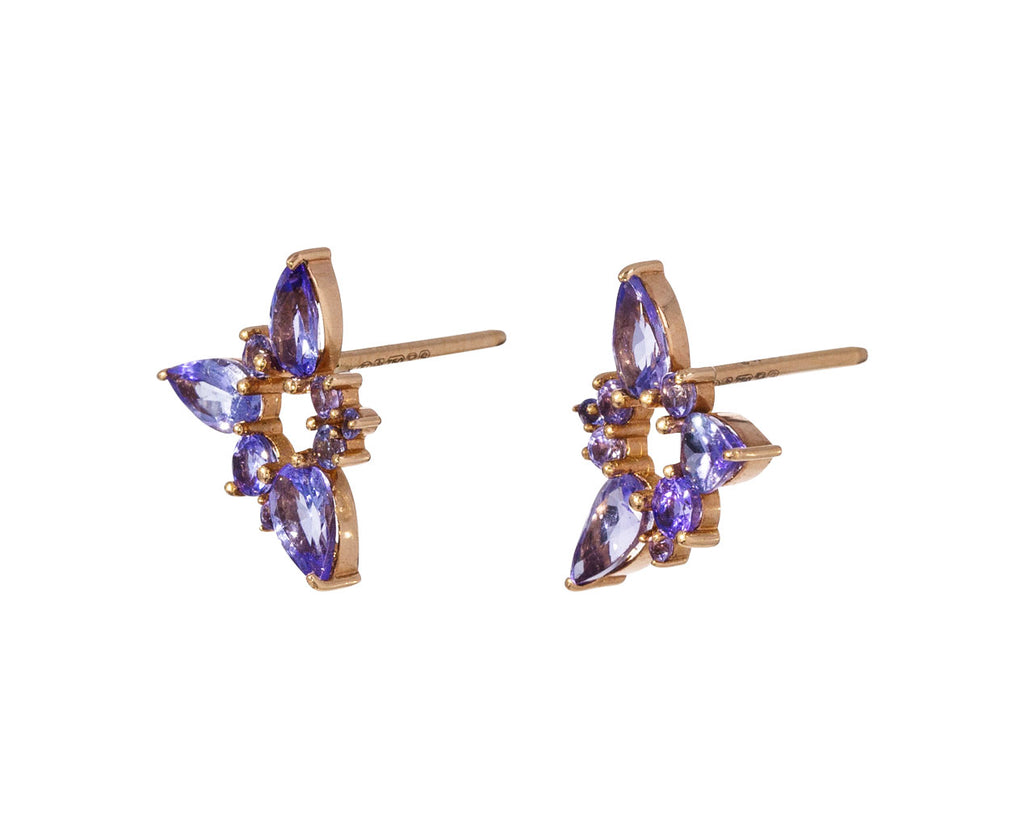 Tanzanite Electric Spark Studs - TWISTonline