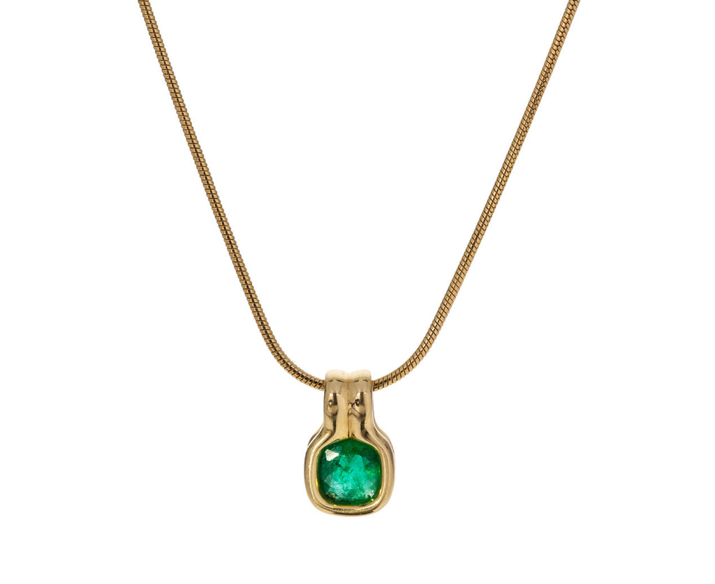 Cushion Cut Emerald Pendant ONLY - TWISTonline