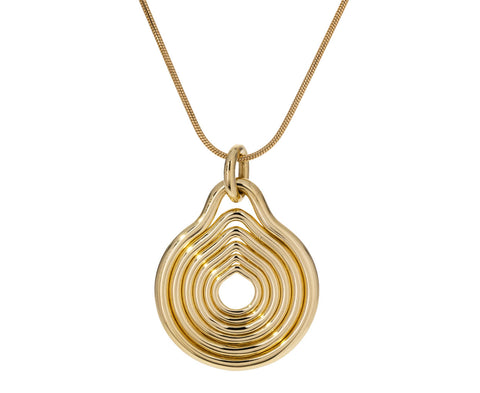 Rounded Lines Gold Pendant ONLY