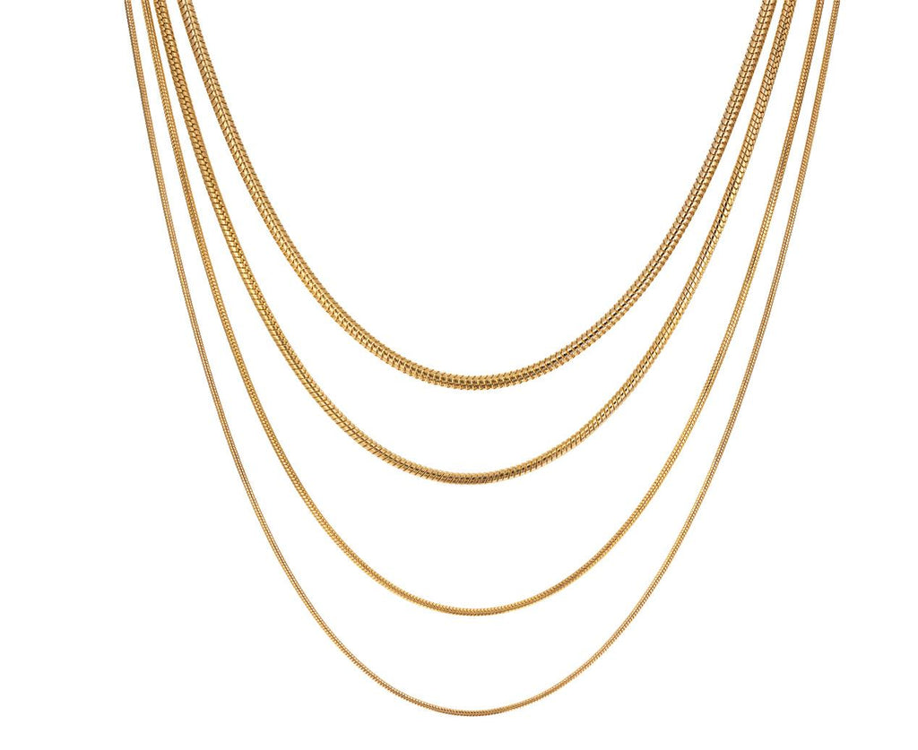 Gold Multi-Chain Fluid Necklace - TWISTonline