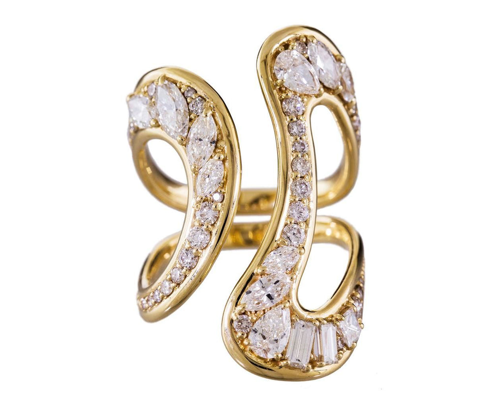 Yellow Gold and Diamond Stream Open Ring zoom 1_fernando_jorge_designer_gold_stream_open_diamond