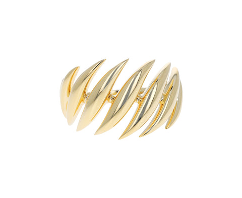 Gold Small Flame Ring