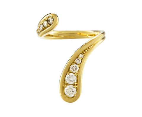 Diamond Fluid Long Ring - TWISTonline