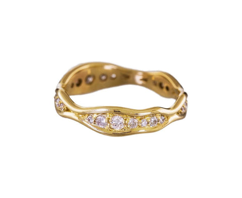 Yellow Gold Fluid Diamond Band - TWISTonline
