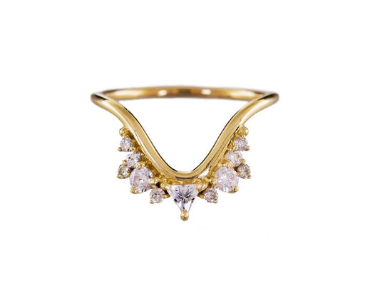 Yellow Gold Diamond and Topaz Fusion Wave Ring - TWISTonline