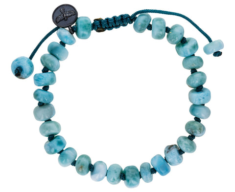 Smooth Larimar Beaded Bracelet - TWISTonline
