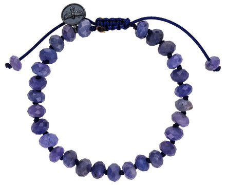 Faceted Tanzanite Beaded Bracelet - TWISTonline