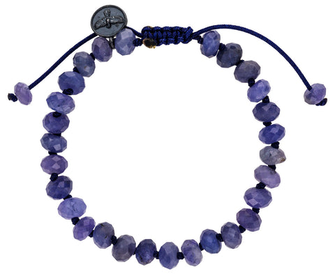 Faceted Tanzanite Beaded Bracelet