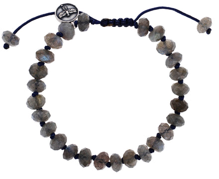 Faceted Labradorite Beaded Bracelet