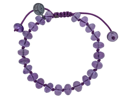 Smooth Amethyst Beaded Bracelet - TWISTonline