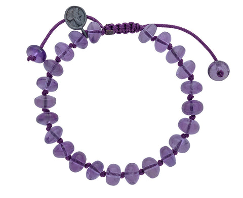 Smooth Amethyst Beaded Bracelet