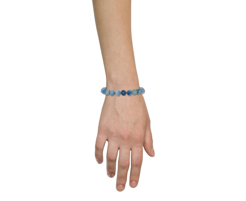 Faceted Aquamarine Beaded Bracelet - TWISTonline
