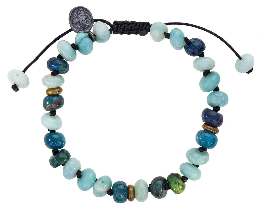 Amazonite, Apatite, Malachite,  Azurite Bracelet zoom 1_joseph_brooks_amazonite_apatite_beaded_bracelet
