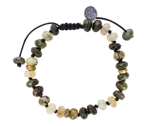 Green Jasper, Prehnite and Gold Rutile Quartz Bracelet - TWISTonline