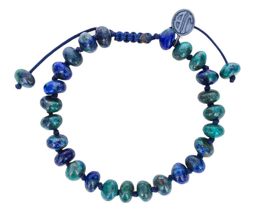 Smooth Azurite Malachite Beaded Bracelet - TWISTonline