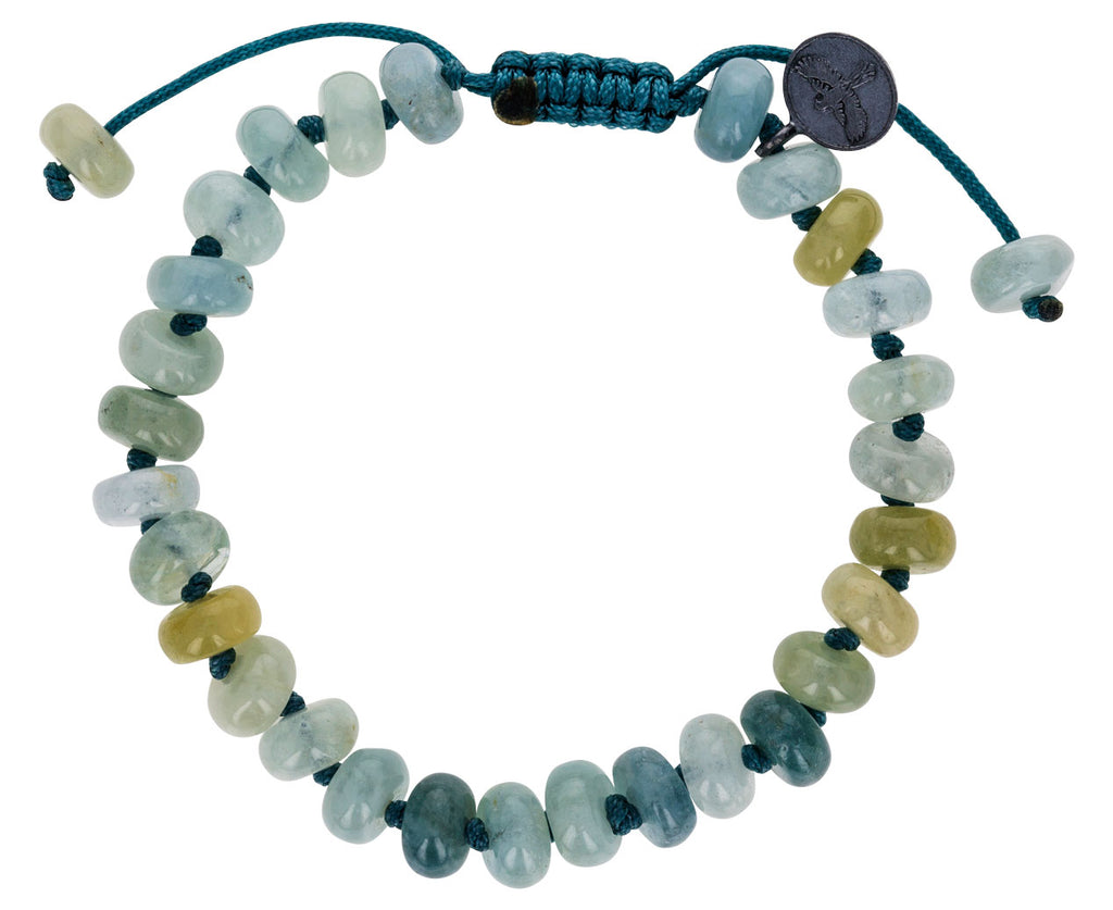 Smooth Aquamarine Beaded Bracelet