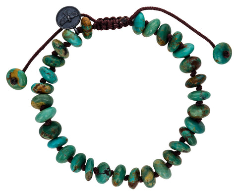 Smooth Arizona Turquoise Beaded Bracelet - TWISTonline