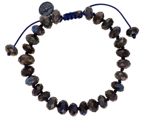 Black Labradorite Beaded Bracelet