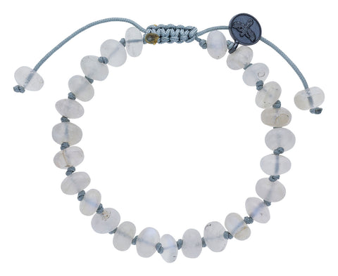 Smooth Blue Flash Moonstone Beaded Bracelet - TWISTonline