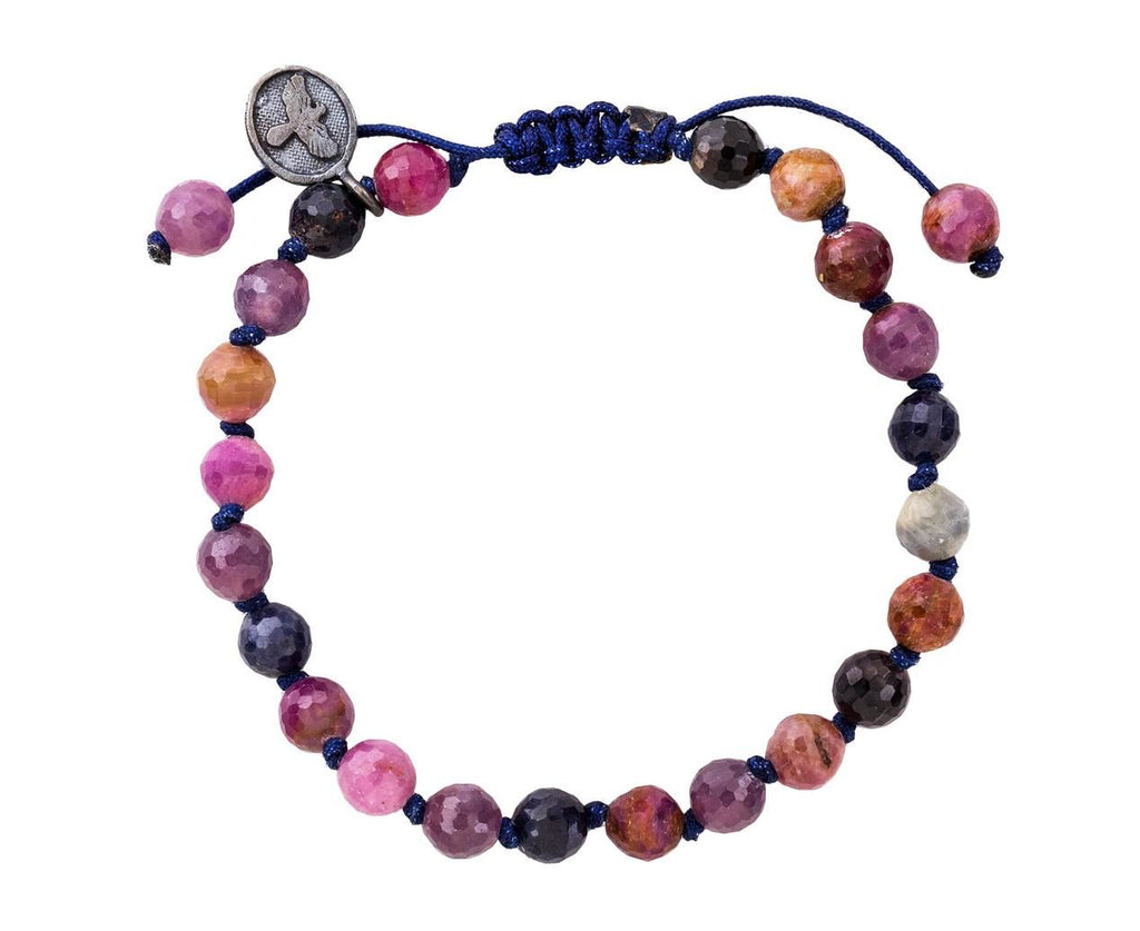 Natural Beaded Sapphire Bracelet  zoom 1_joseph_brooks_natural_blue_pink_sapphire_beaded_