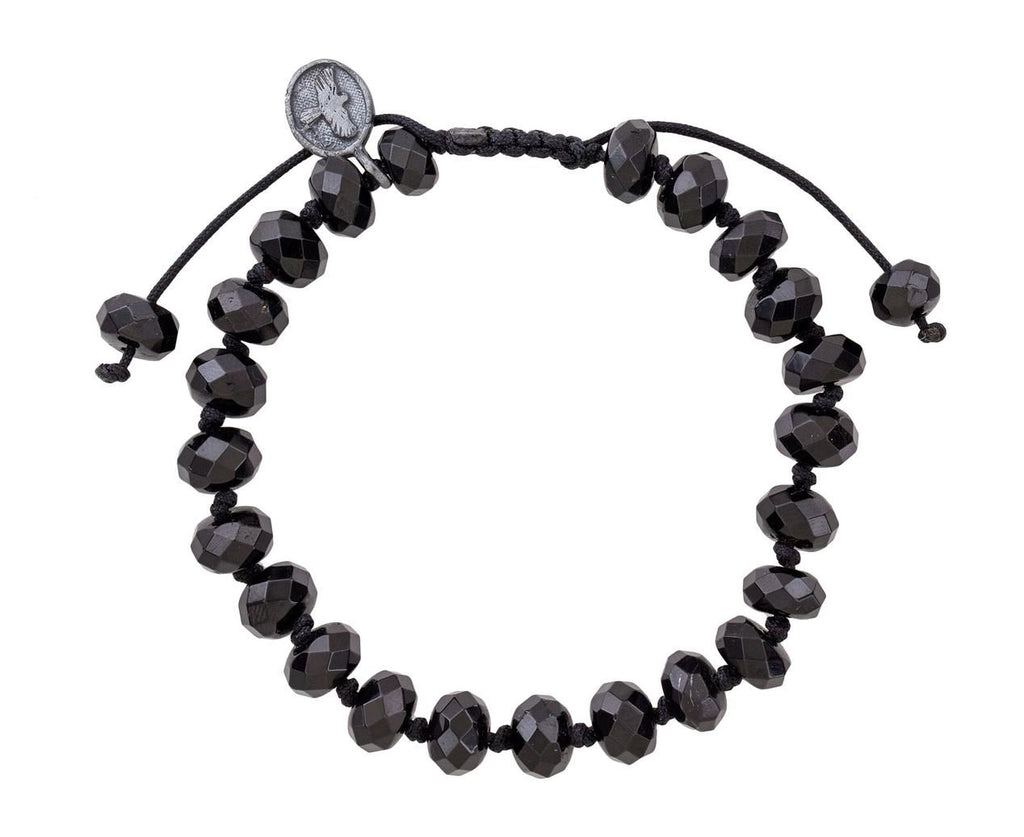 Black Tourmaline Beaded Bracelet  zoom 1_joseph_brooks_black_tourmaline_beaded_bracelet