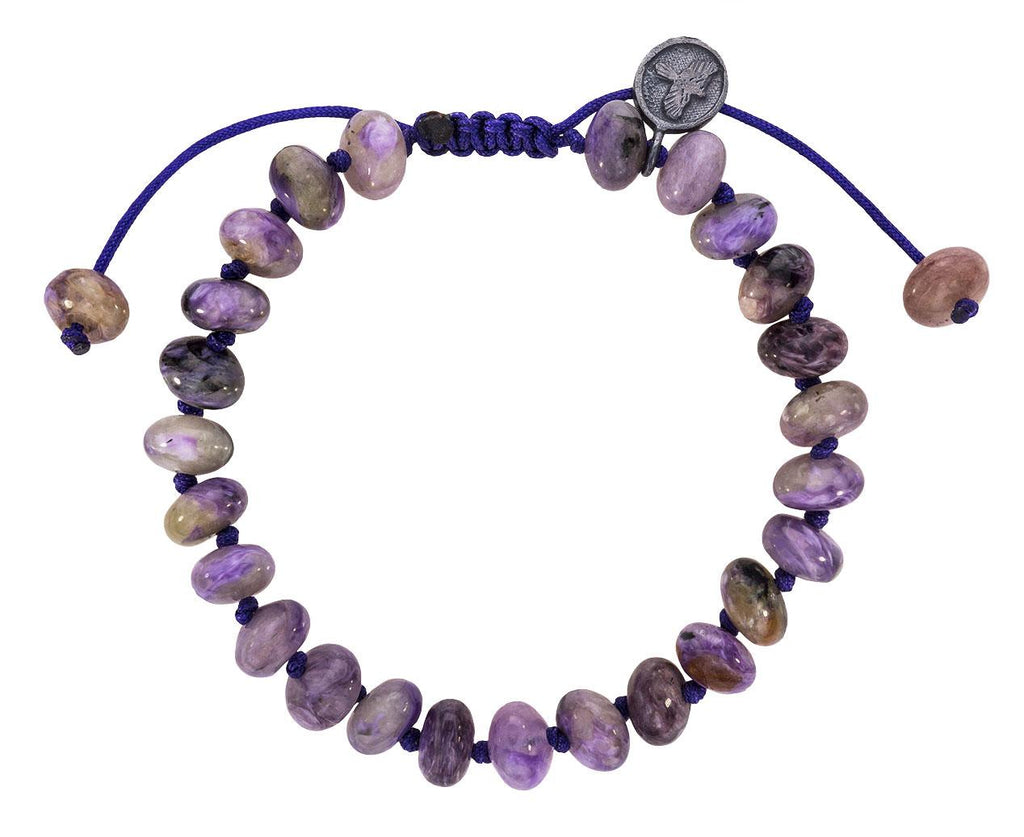 Charoite Beaded Bracelet zoom 1_joseph_brooks_charoite_beaded_bracelet
