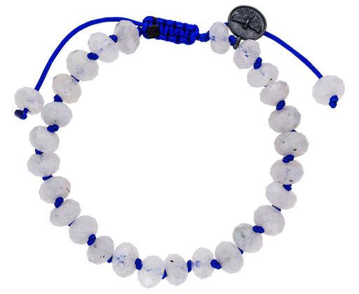 Blue Flash Moonstone Beaded Bracelet